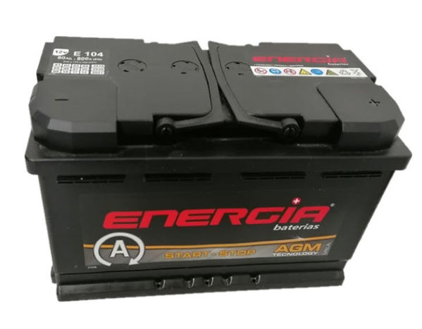 Picture of BATERIA ENERGIA E104 STAR-STOP AGM 80AH
