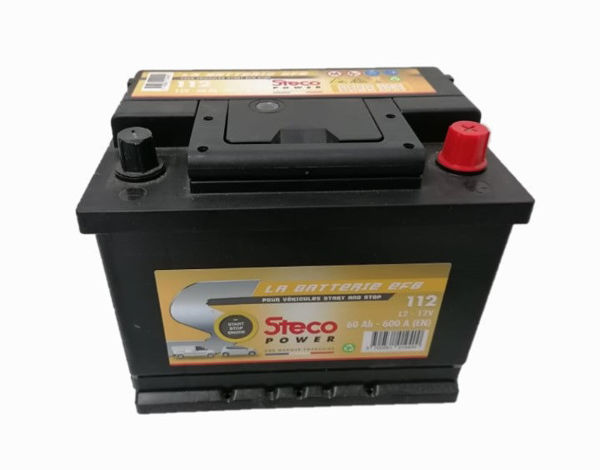 Picture of BATERIA STECO EFB112 60Ah 600A